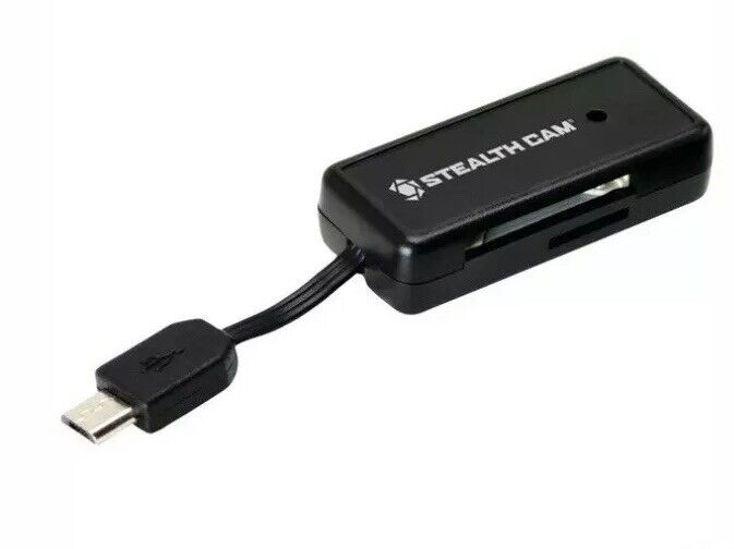 Stealth Cam STC-SDCRAND Micro USB OTG Memory Card Reader for Android Devices