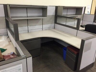 Used Office Cubicles Herman Miller Q 6x6 Cubicles