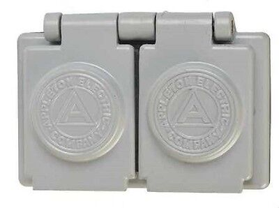 Outdoor Outlet Covers 10-appleton Electric Aluminum Duplex Fsk-wrd Weatherproof