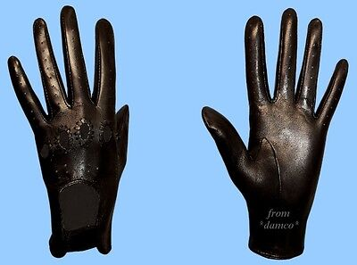 - NEW WOMENS size 8.5 BLACK GENUINE LAMBSKIN - KID LEATHER DRIVING GLOVES