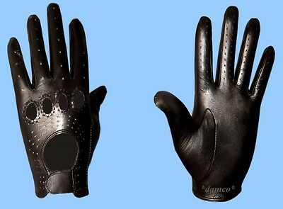- NEW MENS size 8.5 GENUINE BLACK LAMBSKIN - KID LEATHER DRIVING GLOVES