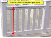 Caravan Decking Gate Made To measure UPVC Plastic Gate
