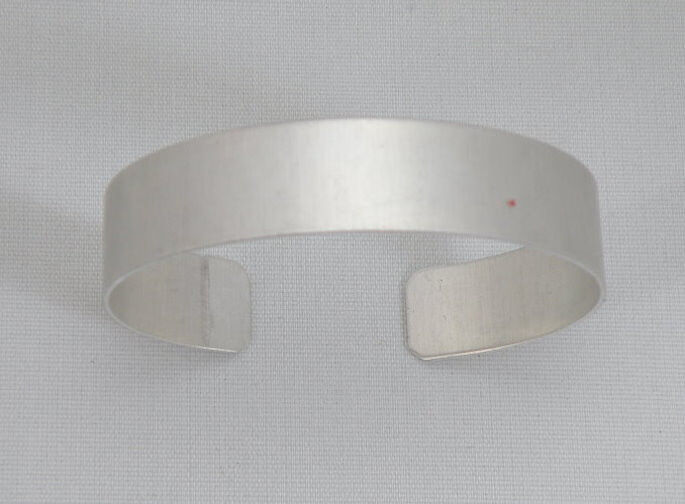 "Aluminum Cuff Bracelet Blanks, 1/2"" x 6"", one dozen"
