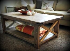 New Rustic Coffee Table - Solid - Real Wood - Delivery Available