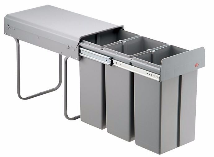 30 Litre Kitchen Cupboard Pull Out Waste Bin To Suit 30cm wide cupboard.