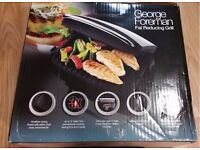 GEORGE FOREMAN FAMILY 4 PORTION SILVER GRILL AND MELT 14181 BRAND NEW BOXED UK