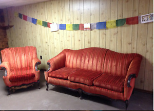 Antique Sofa and Chair Set