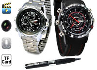HD CAMERA SPY WATCHES & PENS - 8GB BUILD IN MEMORY- USB CHARGING