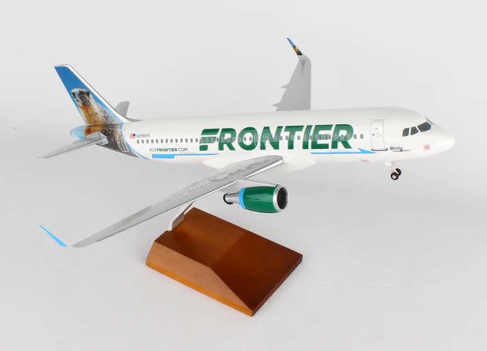 Skymarks SKR8330 Frontier Airbus A320-2 Marmot Desk Display 1/100 Model Airplane