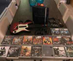 PS3 ,16 Games ,2 Controllers, 1 Guitar