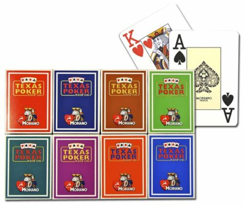 New 8 Decks Modiano 100% Plastic Playing Cards Poker Size Jumbo Index - 8 Colors