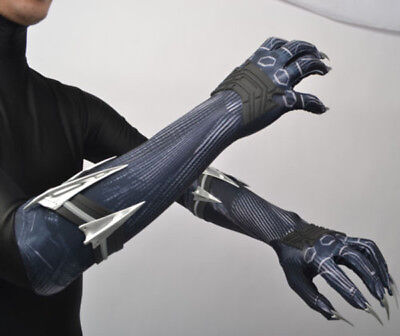 Avengers4: Endgame Black Panther Claw Glove Paws Prop Forearm Decors Props](Panther Gloves)
