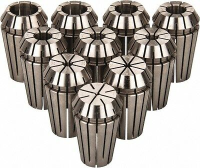 Etm 10 Piece 0.79 To 9.53mm Capacity Er Collet Set Series Er16 Increments ...