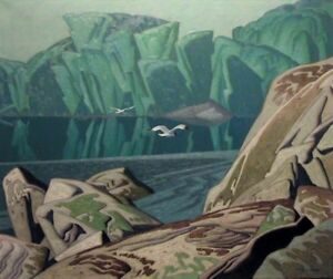 """Summer Morning"" print by A.J. Casson (Group of Seven)"