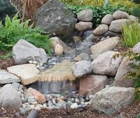 Pond, waterfall and stream