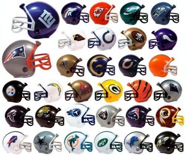 Nfl 32 Team New Logo Mini Micro Football Helmet Set Made