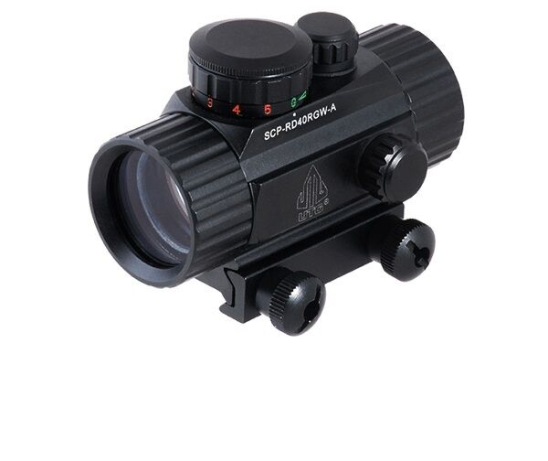 """BRAND NEW UTG Leapers Swatforce Red Green Dot Sight Black Gen 4"""" SCP-RD40RGW-A"""