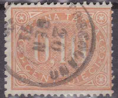Regno 1869 segnatasse 10 cent timbrato DISCRETA CENTRATURA (300€) comprar usado  Enviando para Brazil