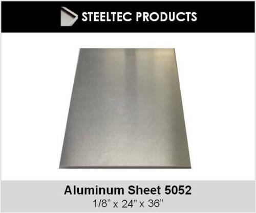 """.125"""" 1/8 Aluminum Sheet Plate 24"""" x 36""""  5052"""