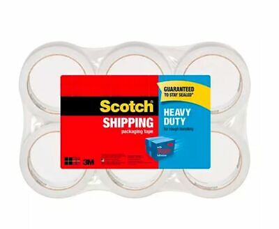 Scotch Heavy Duty Shipping Packaging Tape 1.88 In X 60.15 Yd 6 Pack - Free Ship