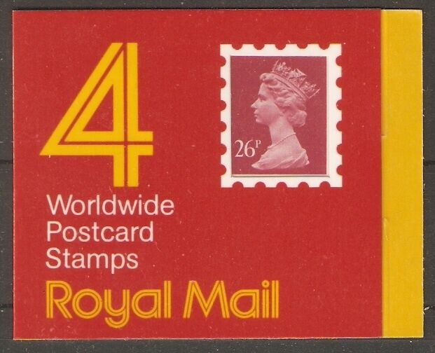 GB SGGE1 1987 £1.04 WORLDWIDE POSTCARD STAMPS BOOKLET