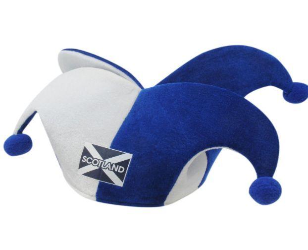 Fasching Karneval Hut Mütze Schottland Scotland Blau Weiß