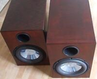 Cherrywood finished stereo subwoofers 525W rated