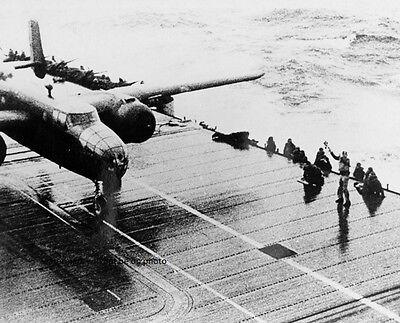 """Doolittle Raid B-25B Mitchell Bomber USS Hornet  8""""x 10"""" World War II Photo #111"""