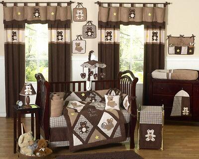 Sweet Jojo Designs 9-Piece Chocolate Brown Teddy Bear Baby B