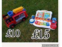 Happy land fire engine, vtech toy