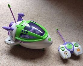 Toy story buzz remote control spaceship