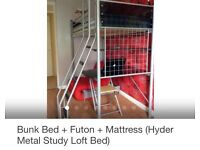 Hyder loft study bed with chair