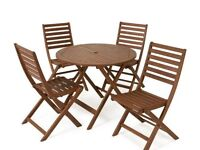 Wooden Patio Set 4 Seater
