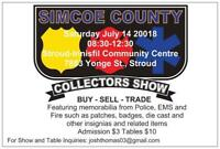 SIMCOE COUNTY POLICE COLLECTORS SHOW.BUY,TRADE AND SELL.