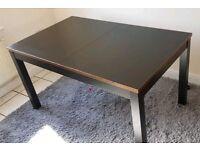 Ikea Black Bjursta Extending Table Copper Edge FREE DELIVERY 362