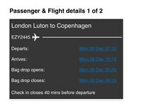Return flights from Copenhagen to London Luton