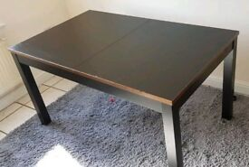 Ikea Black Bjursta Extending Table Copper Edge FREE DELIVERY 065