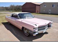 Pink Cadillac convertible