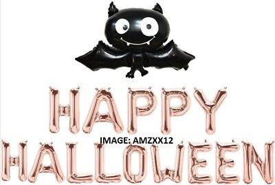 Happy Halloween Letter, XXL Bat, Spider, Pumpkin & more Foil Balloons.UK Seller.](Halloween Balloons Uk)