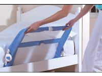 Lindam bed guards 1x blue and 1x beige £10 each