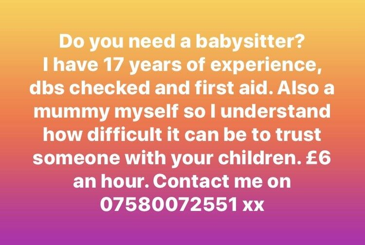 do you need a baby sitter