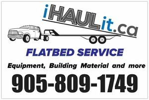 Flatbed Delivery, Building material, Equipment, Vehicles.