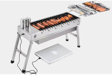Automatic BBQ skewers Stainless Steel rotisserie- best gift
