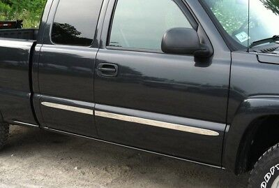 """TYGER For 07-13 Chevy Silverado Ext Cab Long Bed Body Side Molding Trim 1.5"""" 4PC"""