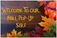 Fall Pop-Up Sale
