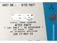 4 x CREAMFIELDS STEEL YARD AFTER PARTY AT THE O2 ACADEMY BRIXTON ON THE 27TH MAY 10.30pm - 3am