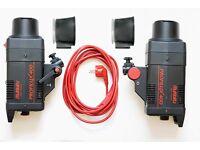 Multiblitz Profilux 400w x2 light Studio Flash Kit