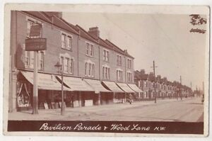 Pavilion Parade & Wood Lane Shepherds Bush, London RP Postcard B752