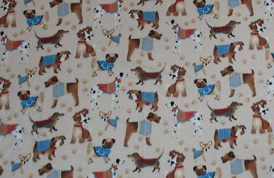 Dog Show Print Fleece Throw Blanket