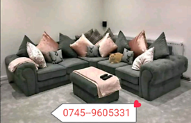 Amaya Grey Corner Sofa Sale